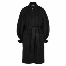 Stine Goya Celeste Black Wool-blend Coat