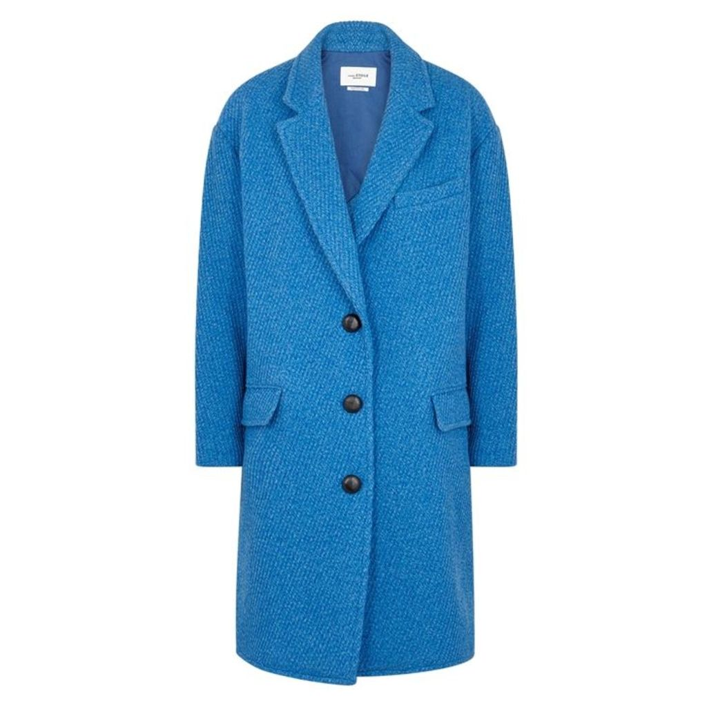 Isabel Marant Étoile Gimi Blue Wool-blend Coat