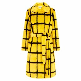 Stand Irna Checked Faux Fur Coat