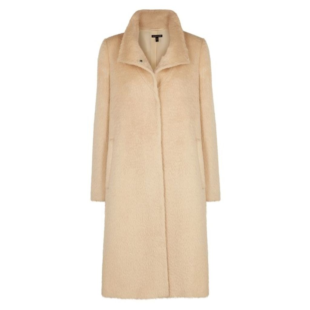 EILEEN FISHER Cream Alpaca-blend Coat