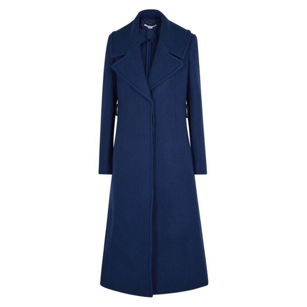 Stella McCartney Blue Wool Coat