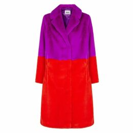 Stand Maribel Colour-block Faux Fur Coat