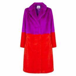 Stand Maribel Colour-block Faux Fur Coat