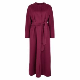 Max Mara Studio Beirut Bordeaux Wool-blend Coat