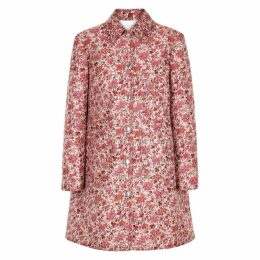 Giambattista Valli Light Pink Floral Jacquard Coat