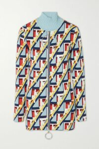 Max Mara - Gelada Pussy-bow Silk Crepe De Chine And Cady Midi Dress - Navy