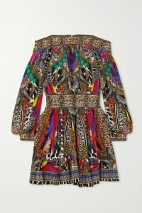 GRLFRND - Eva Distressed Denim Mini Skirt - Light denim
