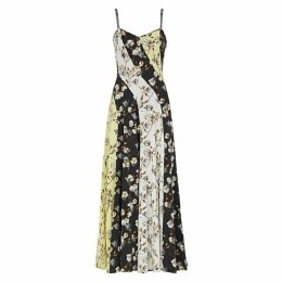 Off-White Printed Panelled Maxi Dress