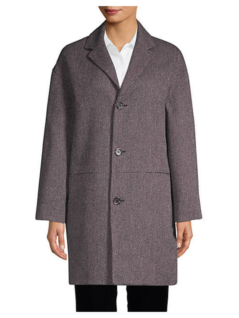Textured Cotton-Blend Coat