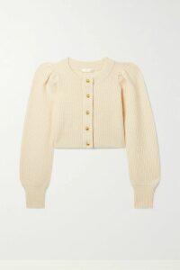 Miu Miu - Printed Denim Mini Skirt - Gray