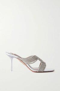 LHD - Clemenceau Floral-print Silk Crepe De Chine Mini Dress - Orange