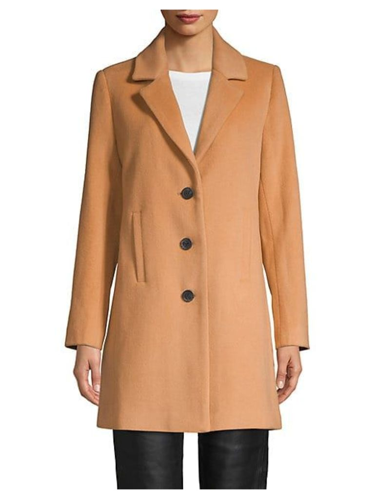 Classic Notch-Collar Coat