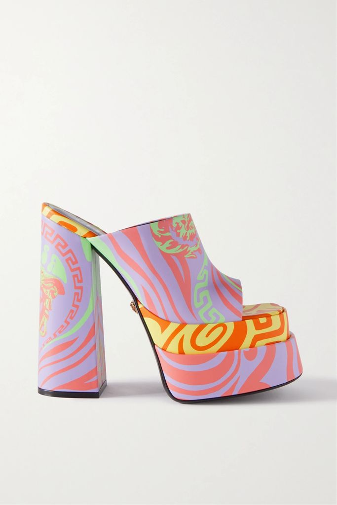 House of Holland - Oversized Striped Flocked Satin Shirt - Red