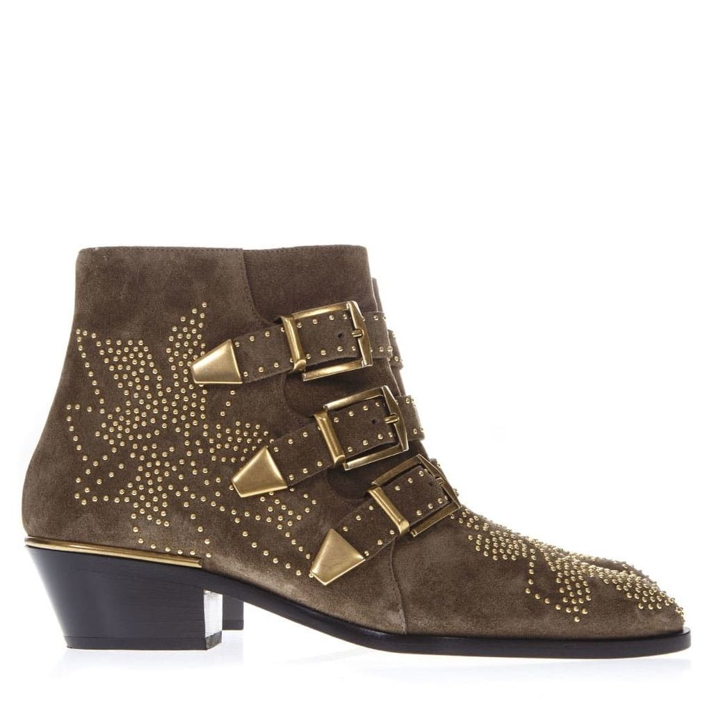 Chloé Susanna Light Brown Suede Ankle Boots