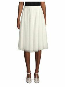 Pin Dot Ten Layer A-Line Skirt