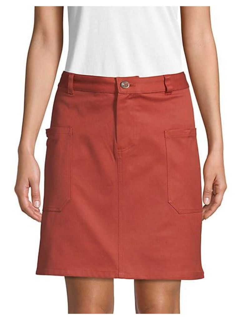 Classic Buttoned Skirt