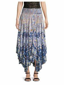 Asymmetrical Smocked Skirt