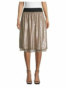 Sequin Knee-Length Skirt