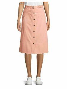 Merritt Button Front Midi Skirt