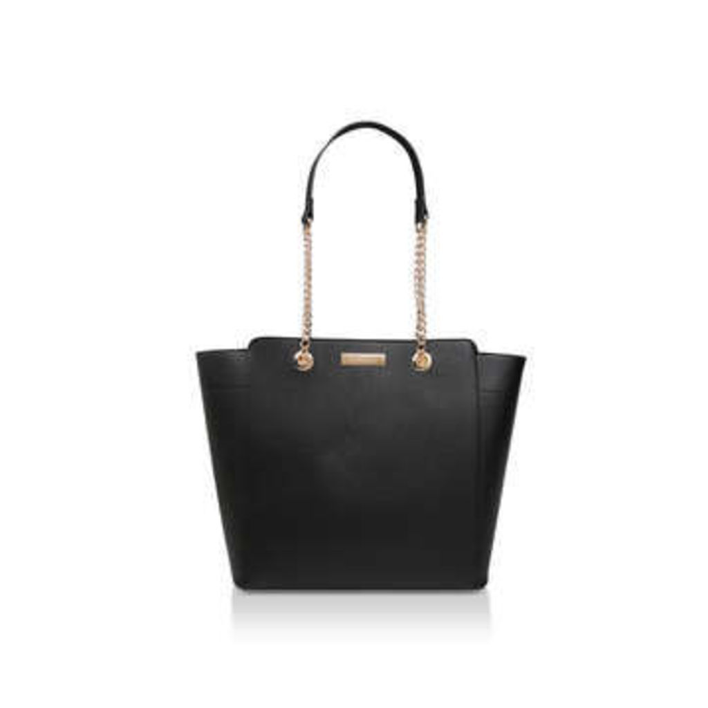 Carvela Rate Tote With Part Chain - Black Tote Bag