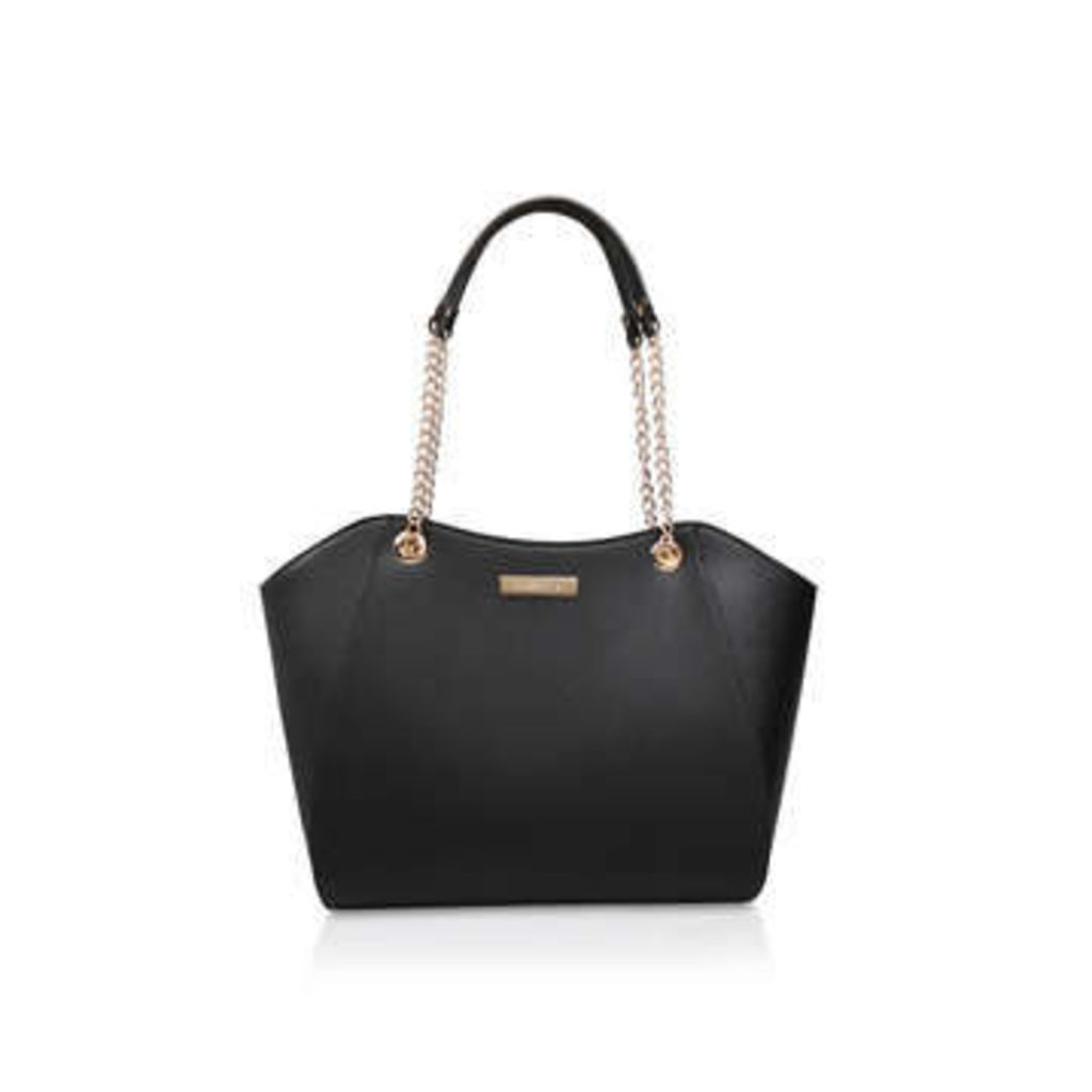 Carvela Bex Chain Handle Tote - Black Tote Bag