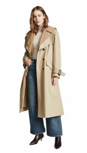 Adam Lippes Fringe Back Trench Coat