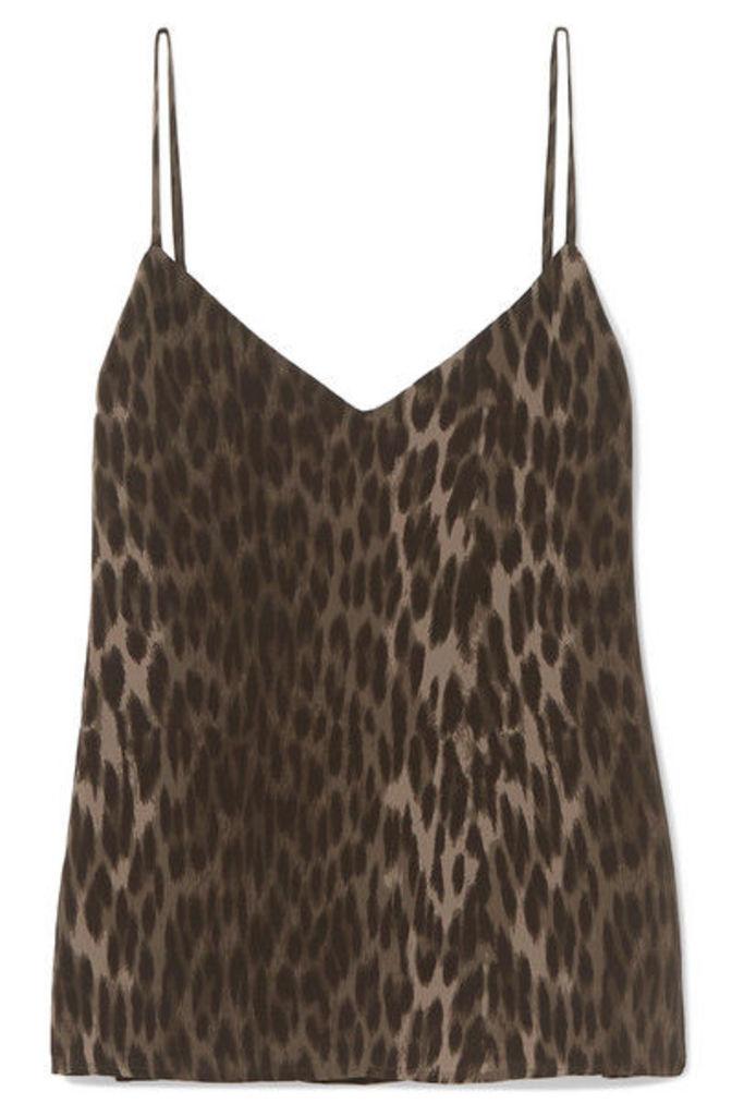 L'Agence - Jane Leopard-print Silk Crepe De Chine Camisole - Leopard print