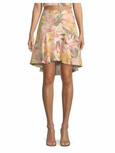 Radhiya Floral Flounce Skirt