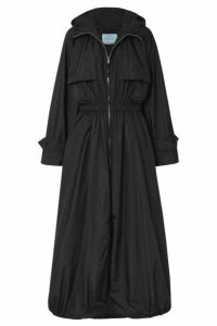 Prada - Hooded Shell Trench Coat - Black