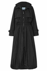 Prada - Hooded Shell Trench Coat - Black