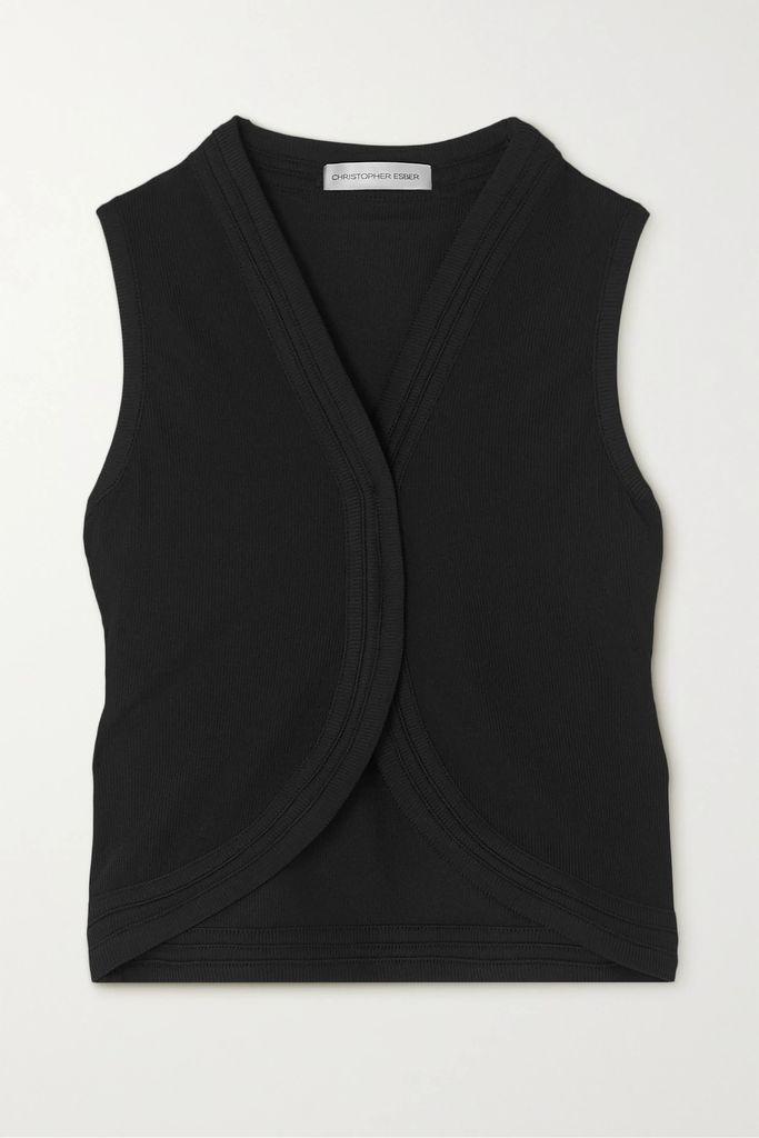 ADEAM - Layered Wool-blend Gabardine Trench Coat - Camel