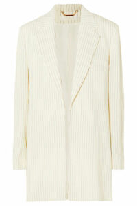 Chloé - Belted Pinstriped Woven Blazer - Cream
