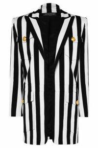 Balmain - Striped Cotton-blend Blazer - Black
