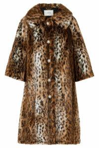 Erdem - Sorayah Embellished Leopard-print Faux Fur Coat - Leopard print