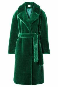 Tibi - Luxe Oversized Faux Fur Coat - Green