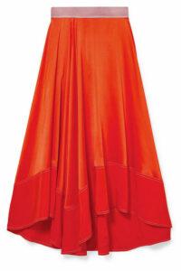 Roksanda - Shona Asymmetric Silk-satin Midi Skirt - Orange