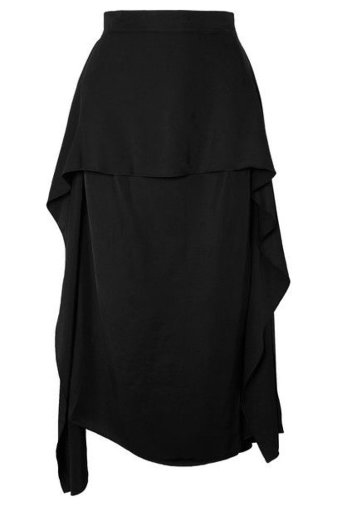 JW Anderson - Asymmetric Twill Midi Skirt - Black