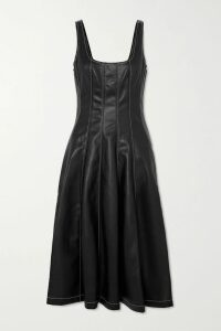 LHD - French Riviera Asymmetric Printed Silk Crepe De Chine Skirt - Blue