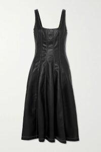 LHD - French Riviera Asymmetric Printed Silk Crepe De Chine Skirt - Blue