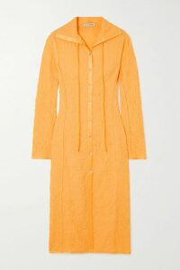 Chloé - Asymmetric Pinstriped Woven Midi Skirt - Navy