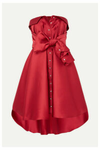 Alexis Mabille - Tie-detailed Faille Mini Dress - Red