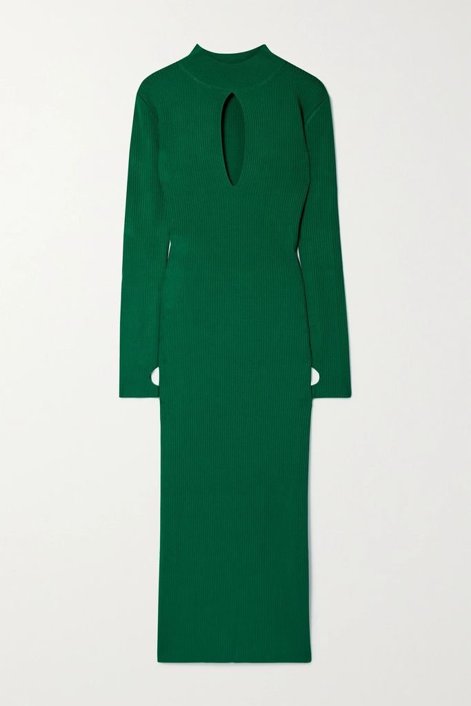 Galvan - Sequined Georgette Mini Dress - Blue