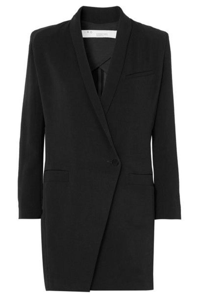 IRO - Mayola Wrap-effect Crepe Mini Dress - Black