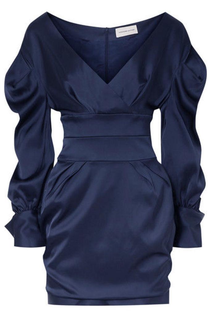 Alexandre Vauthier - Off-the-shoulder Satin Mini Dress - Navy