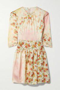 Alexander Wang - Draped Lace-trimmed Silk-blend And Satin-jacquard Mini Dress - Black