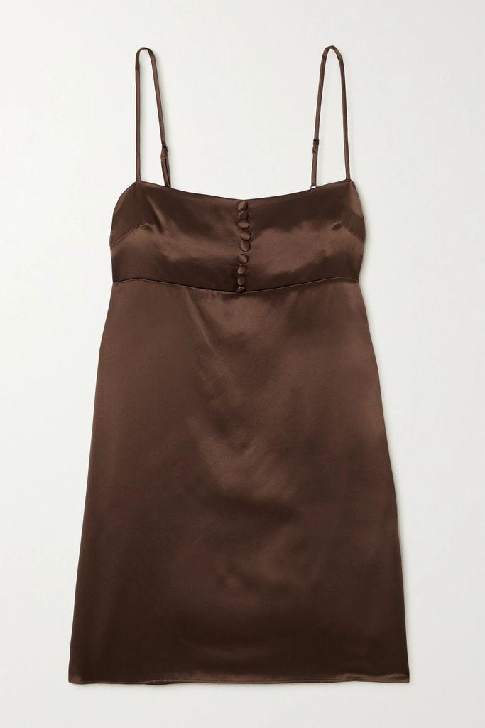 Halpern - Striped Sequined Tulle Halterneck Mini Dress - Purple
