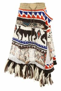 Sacai Aztec Skirt With Fringes