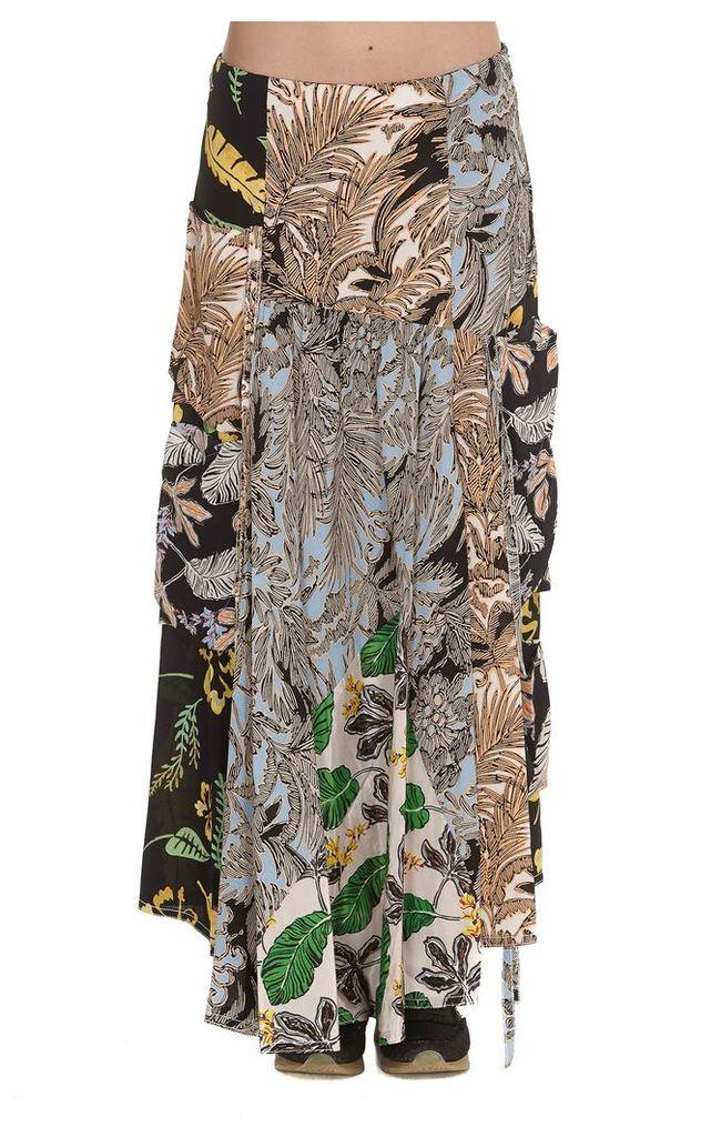 3.1 Phillip Lim Patchwork Print Aline Skirt