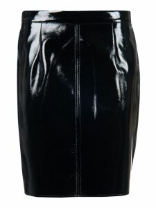 Armani Collezioni Seamed Patent Pencil Skirt