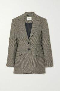 Loewe - Cold-shoulder Leather-trimmed Crepe Maxi Dress - Black
